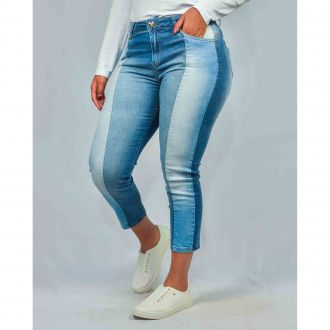 Calça Jeans Cropped Feminina Club Denim Justa