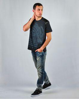 Camiseta Estampada Gola Careca Manga Curta Masculino GH Universe Preto Sirre 4914