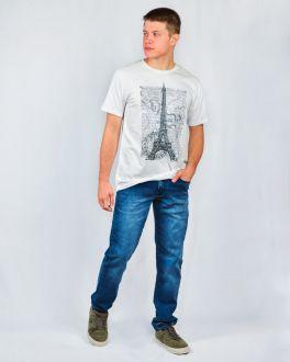Camiseta Estampada Gola Careca Manga Curta Ogochi Branco