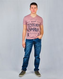 Camiseta Estampada Gola V Masculino Guilherme Augusto Rose