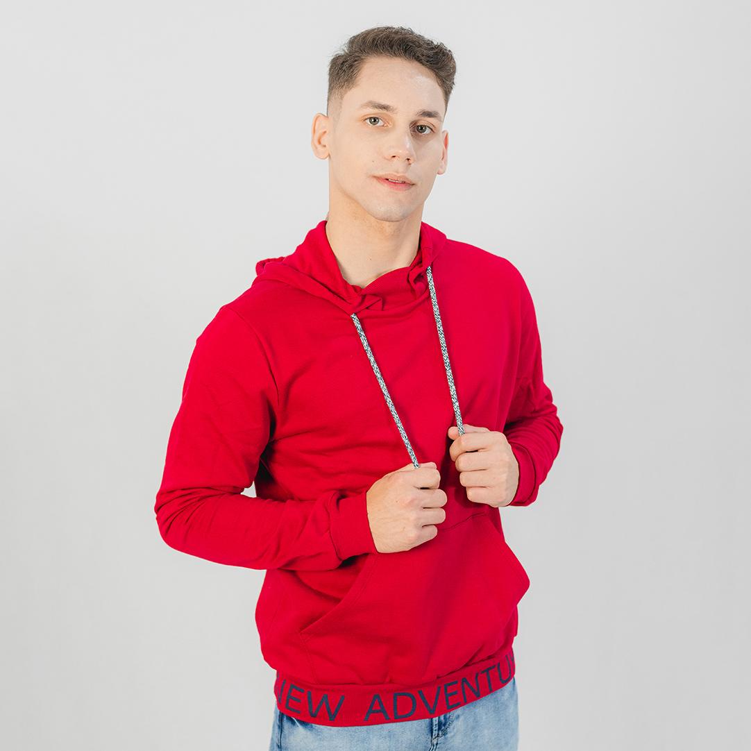 Blusa Rovitex com Capuz Vermelha
