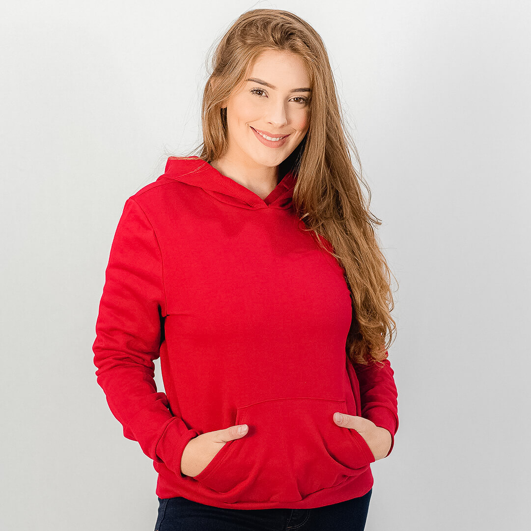 Blusa Rovitex Moletom Vermelho