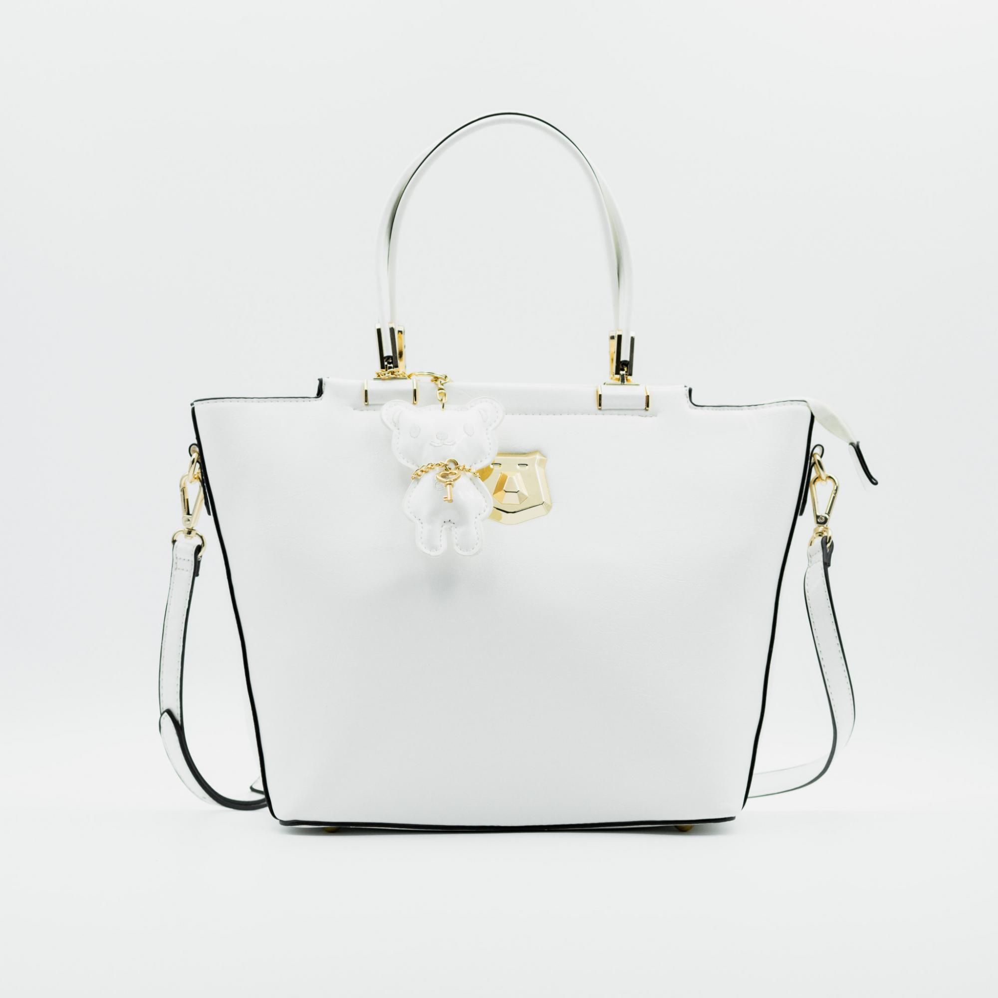 Bolsa Chenson Ursinho Cristal Branco