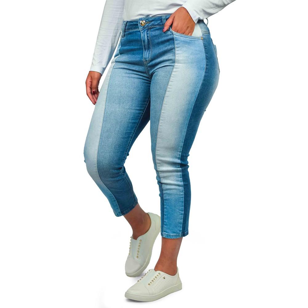 Calça Jeans Cropped Feminina Club Denim Justa