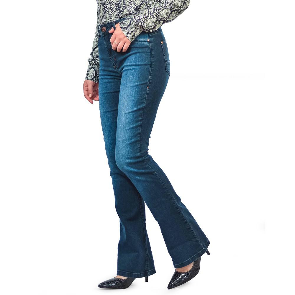 Calça Jeans Flare Feminina Loofting Lara