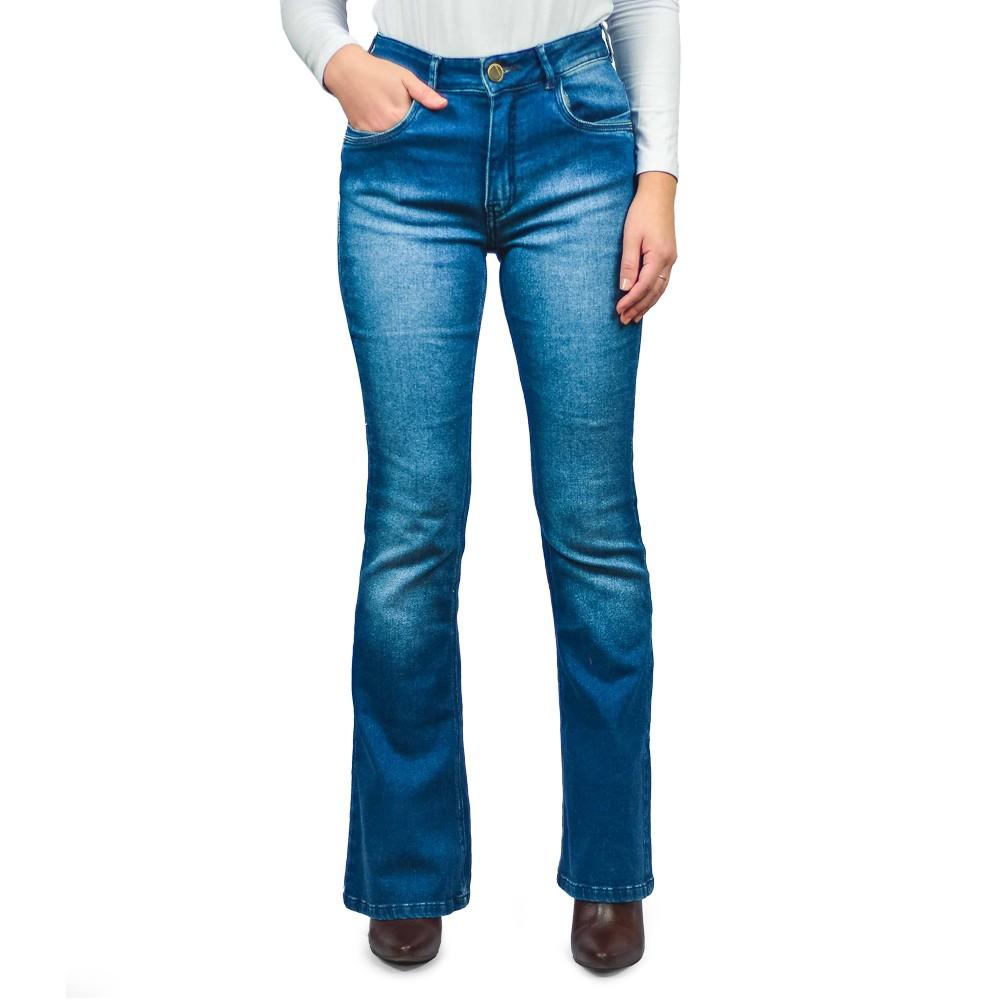 Calça Jeans Flare Feminina Loofting Luana