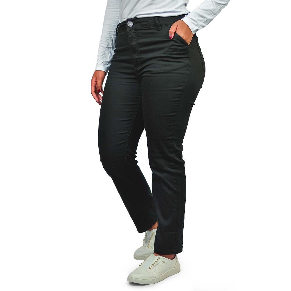 Calça Jeans Reta Feminina Loofting Claudia Preto