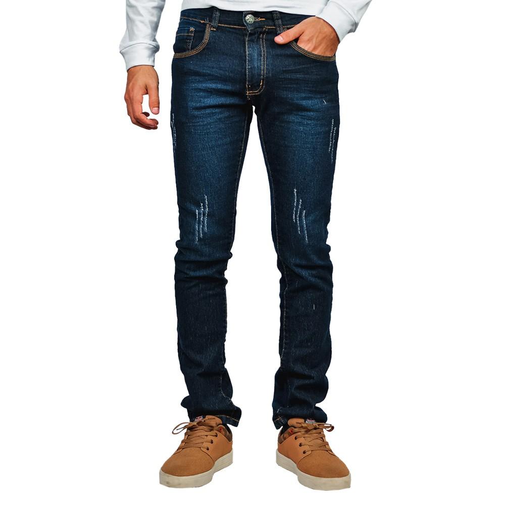 Calça Jeans Skiny Masculino Azure Rasgada