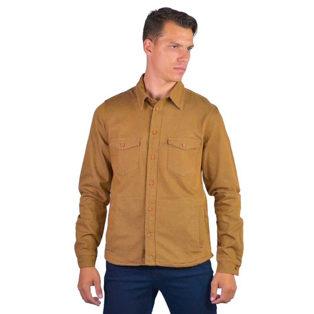 Camisa Casual Masculina Confort Sarja Manga Longa