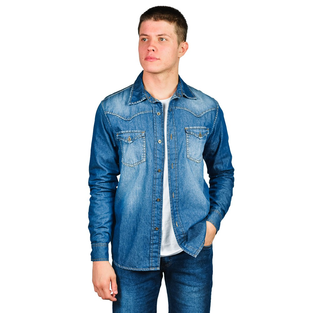 Camisa Jeans Masculina Loofting John Country