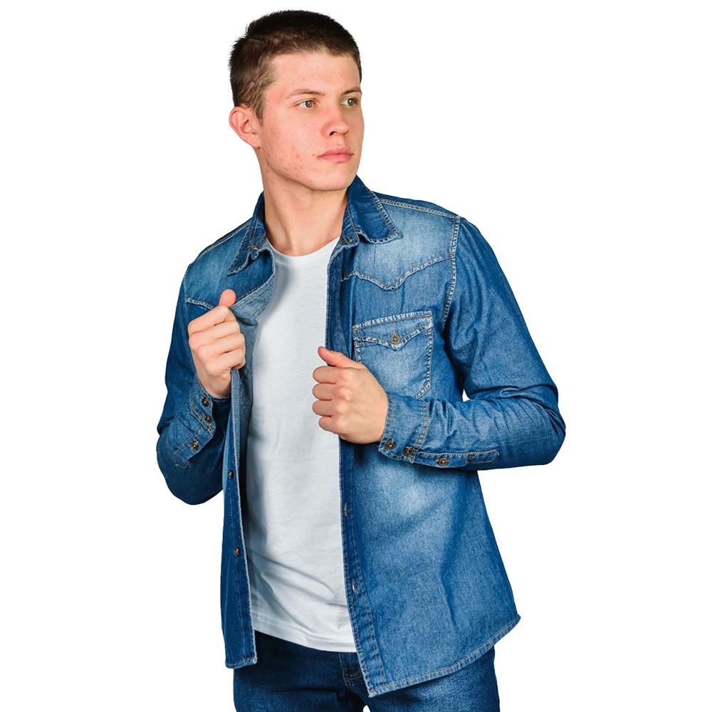 Camisa Jeans Masculina Loofting John Country