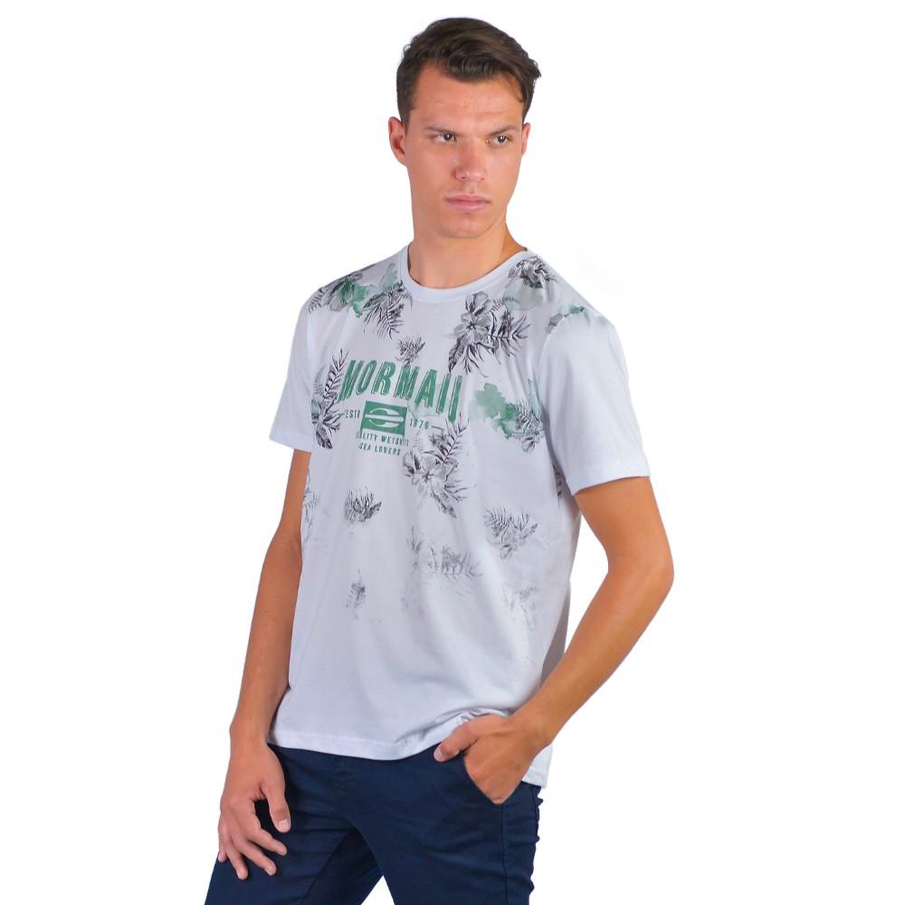 Camiseta Basica Masculina Estampada Manga Curta