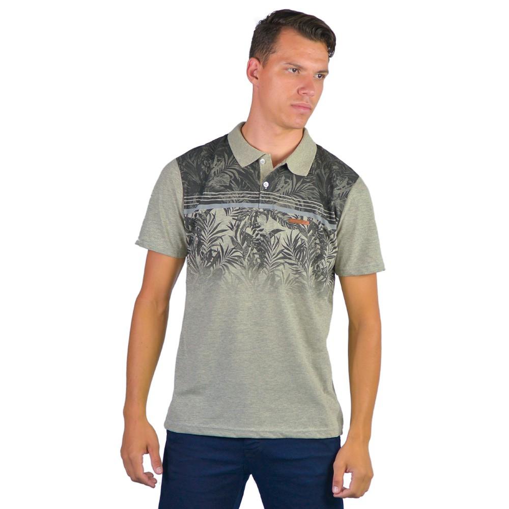 Camiseta Basica Masculina Gola Polo Estilo Estampada