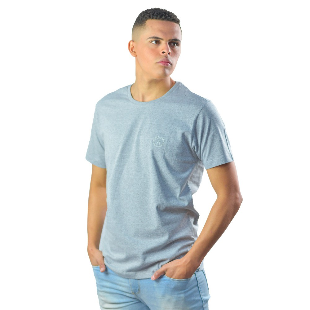 Camiseta Basica Mescla Masculina Lisa