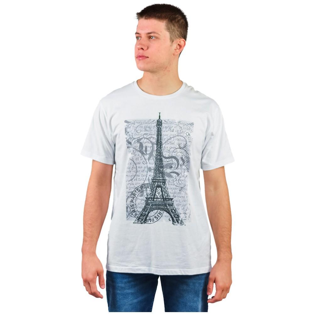 Camiseta Estampada Gola Manga Curta Ogochi Branco