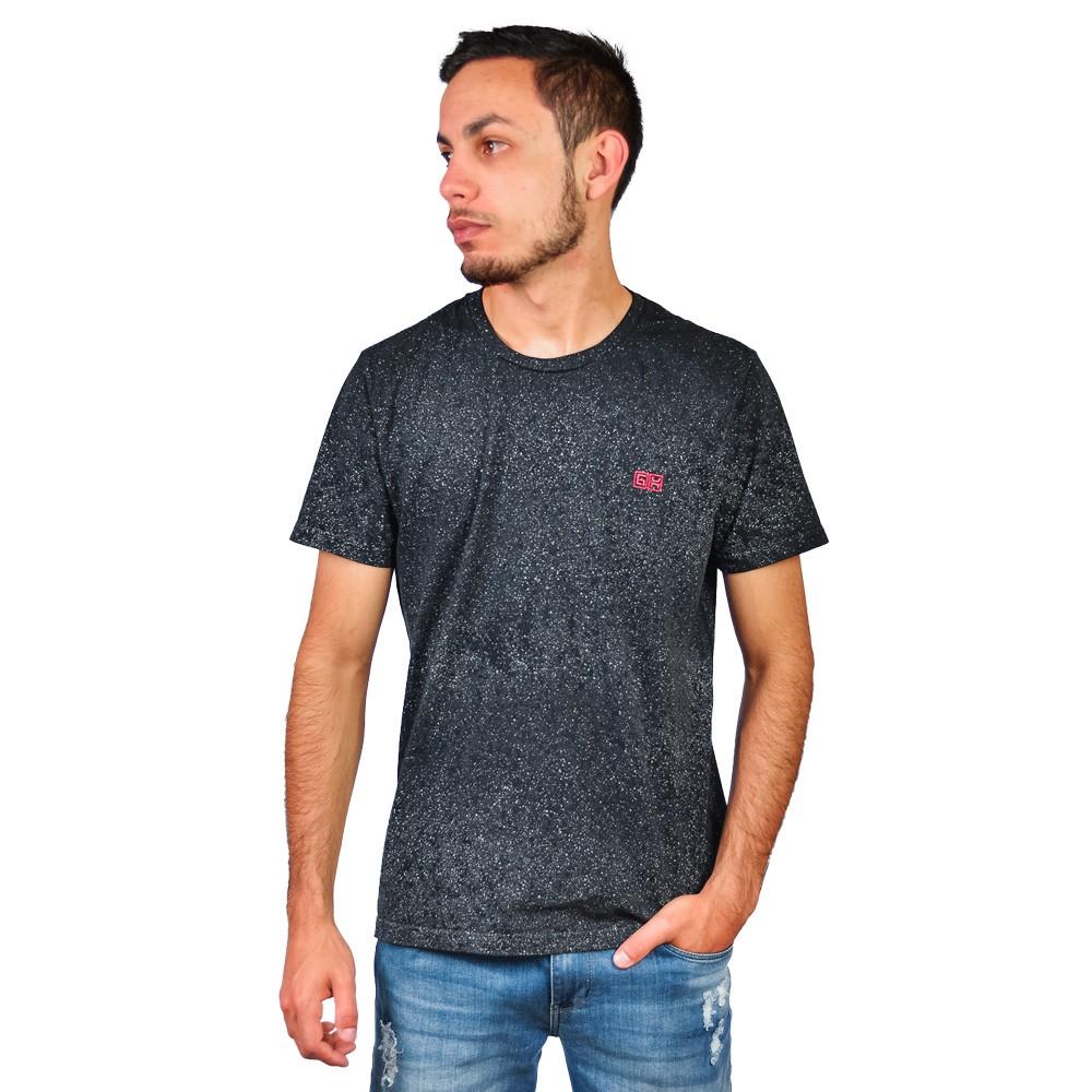 Camiseta Gola Careca GH Universe Preto Marmorizado