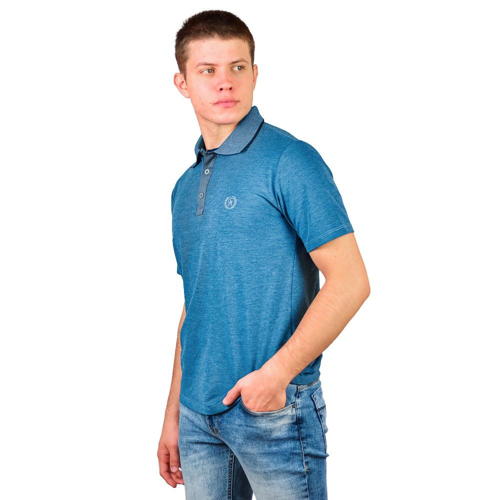 Camiseta Gola Polo Guilherme Augusto Detalhe Jeans