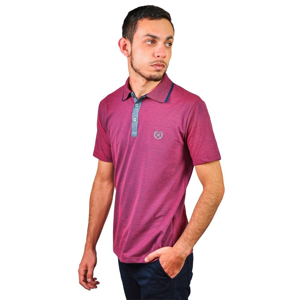 Camiseta Gola Polo Masculino Guilherme Augusto Afrao Bordo