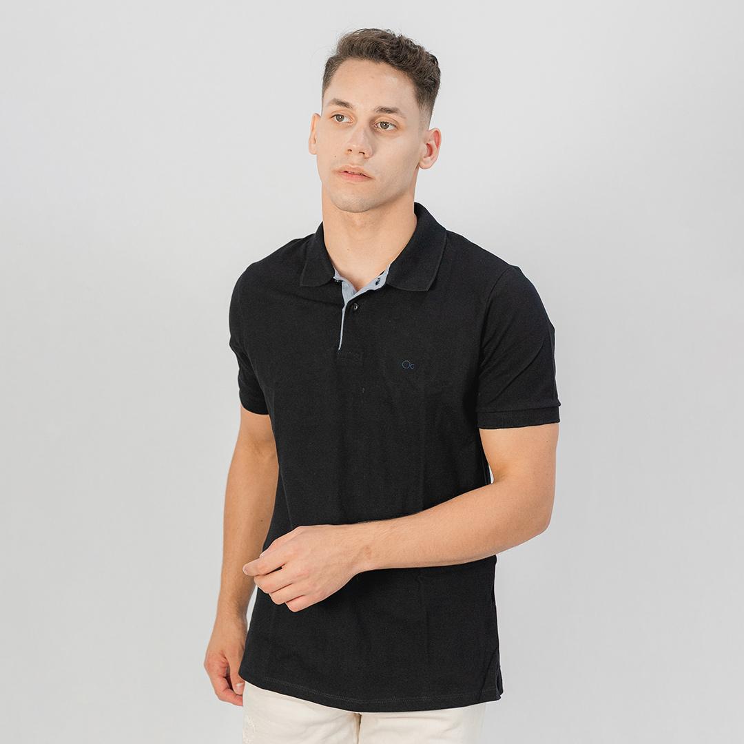 Camiseta Gola Polo MC Ogochi Essencial Slim Preto