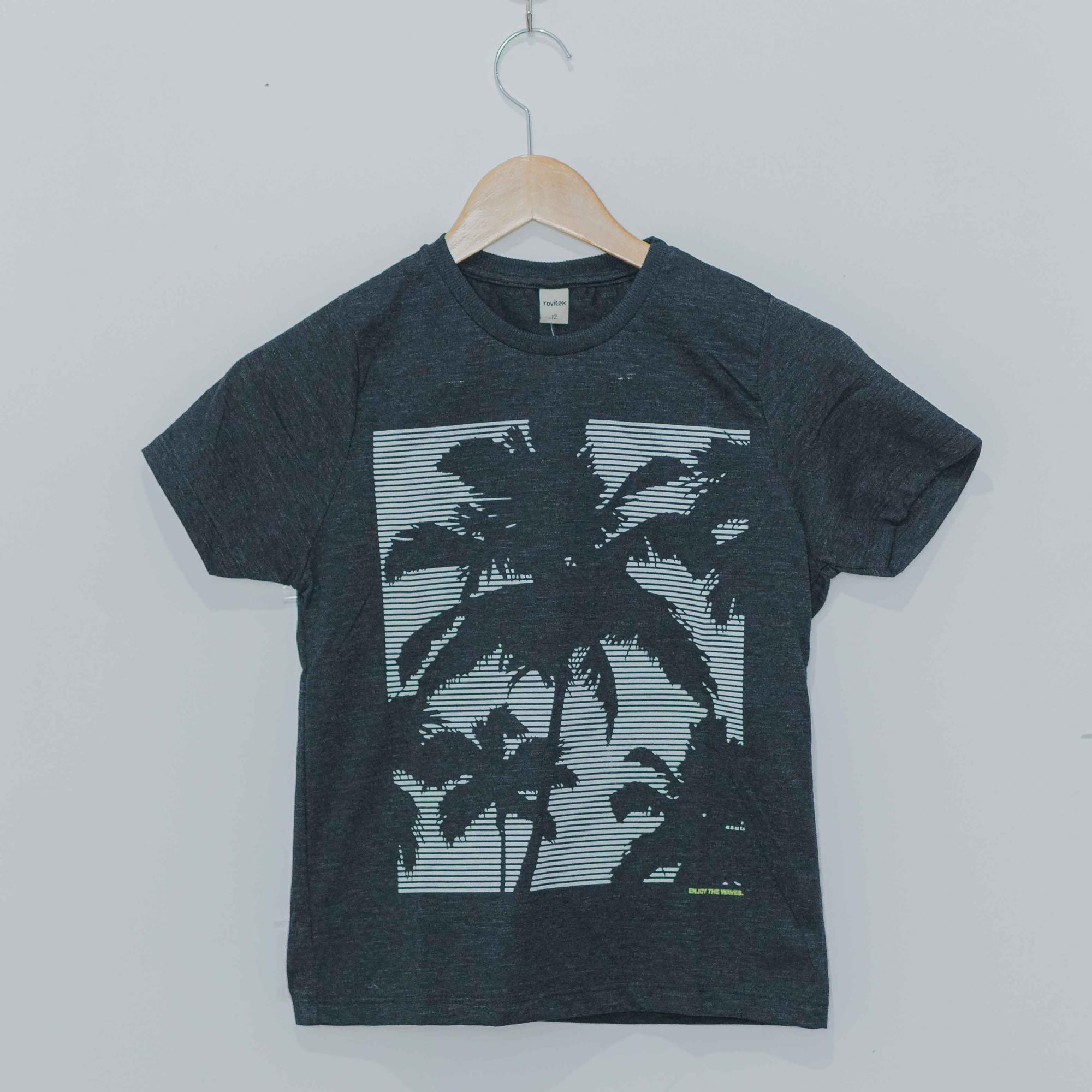 Camiseta Manga Curta Gola C Rovitex Preto