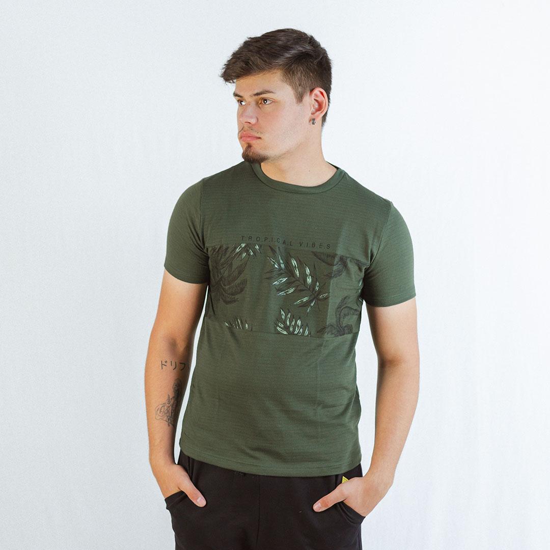 Camiseta Manga Curta Gola C Rovitex Verde Militar