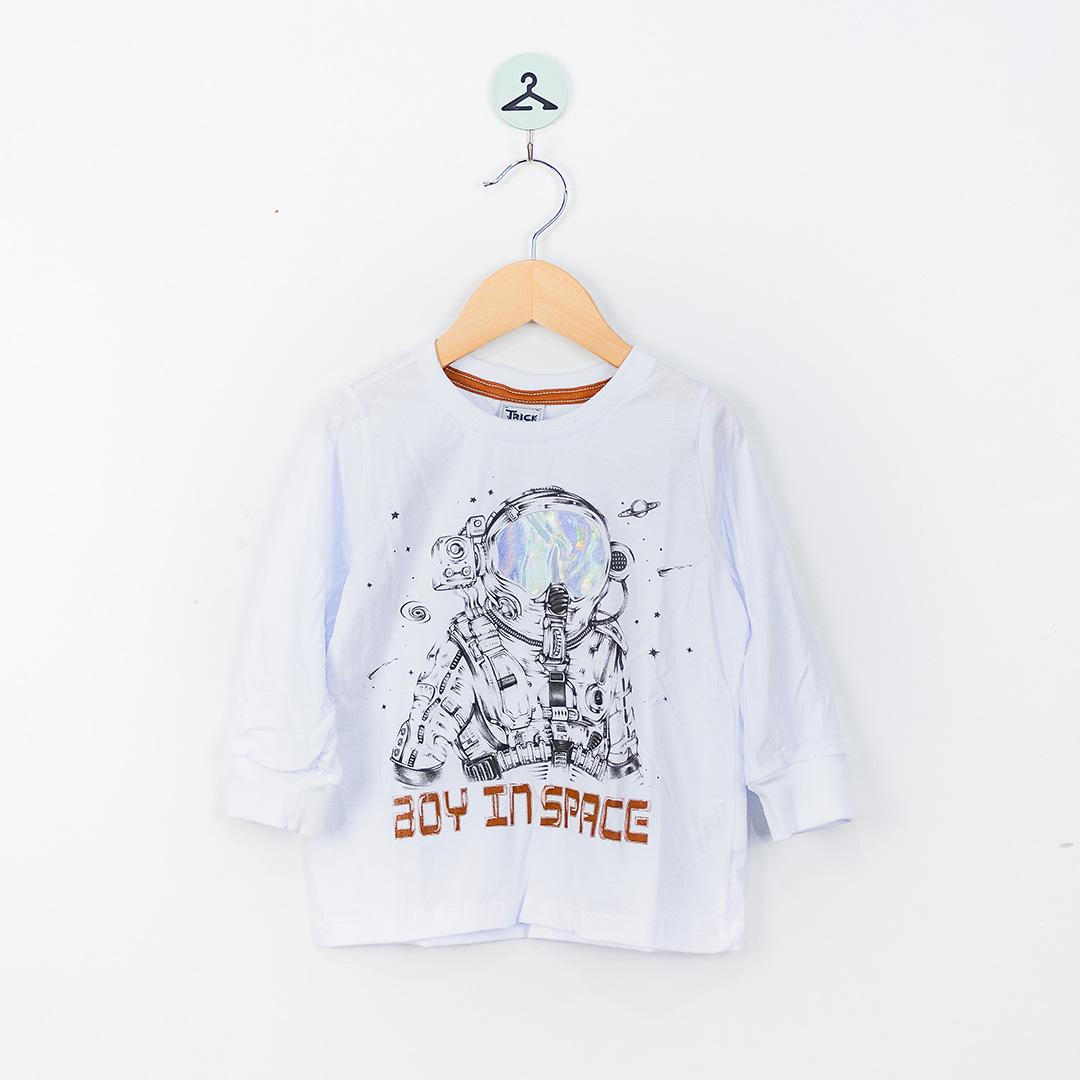 Camiseta Manga Longa Gola C Rovitex