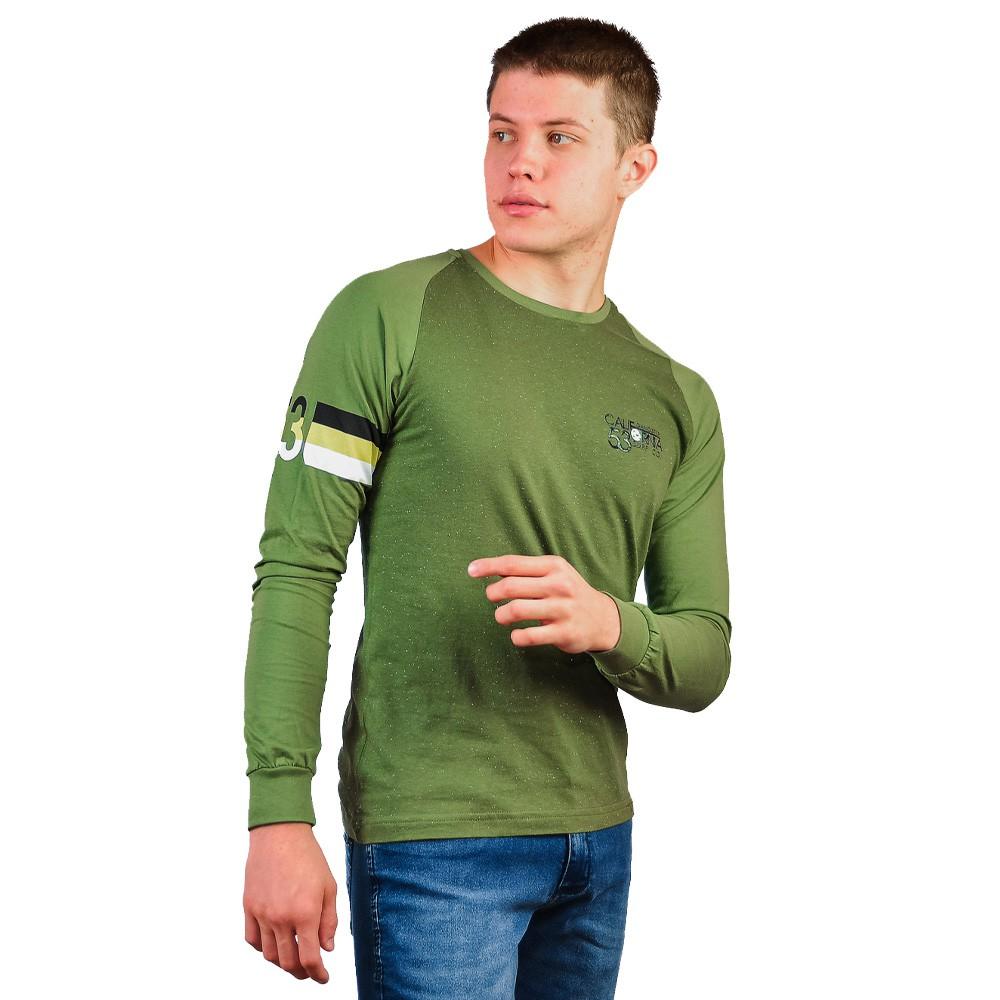 Camiseta Manga Longa Gola Careca Masculino Gangster Militar