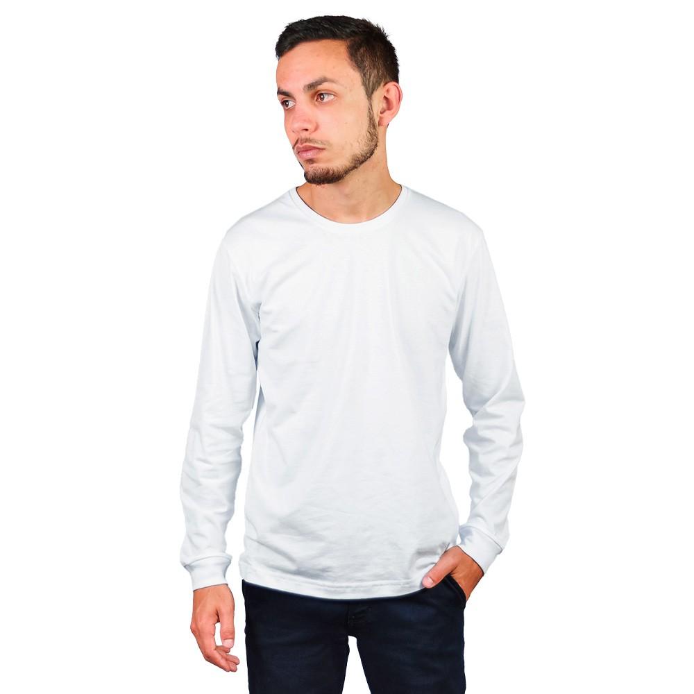 Camiseta Manga Longa Gola Careca Sigosta Branco Essencial