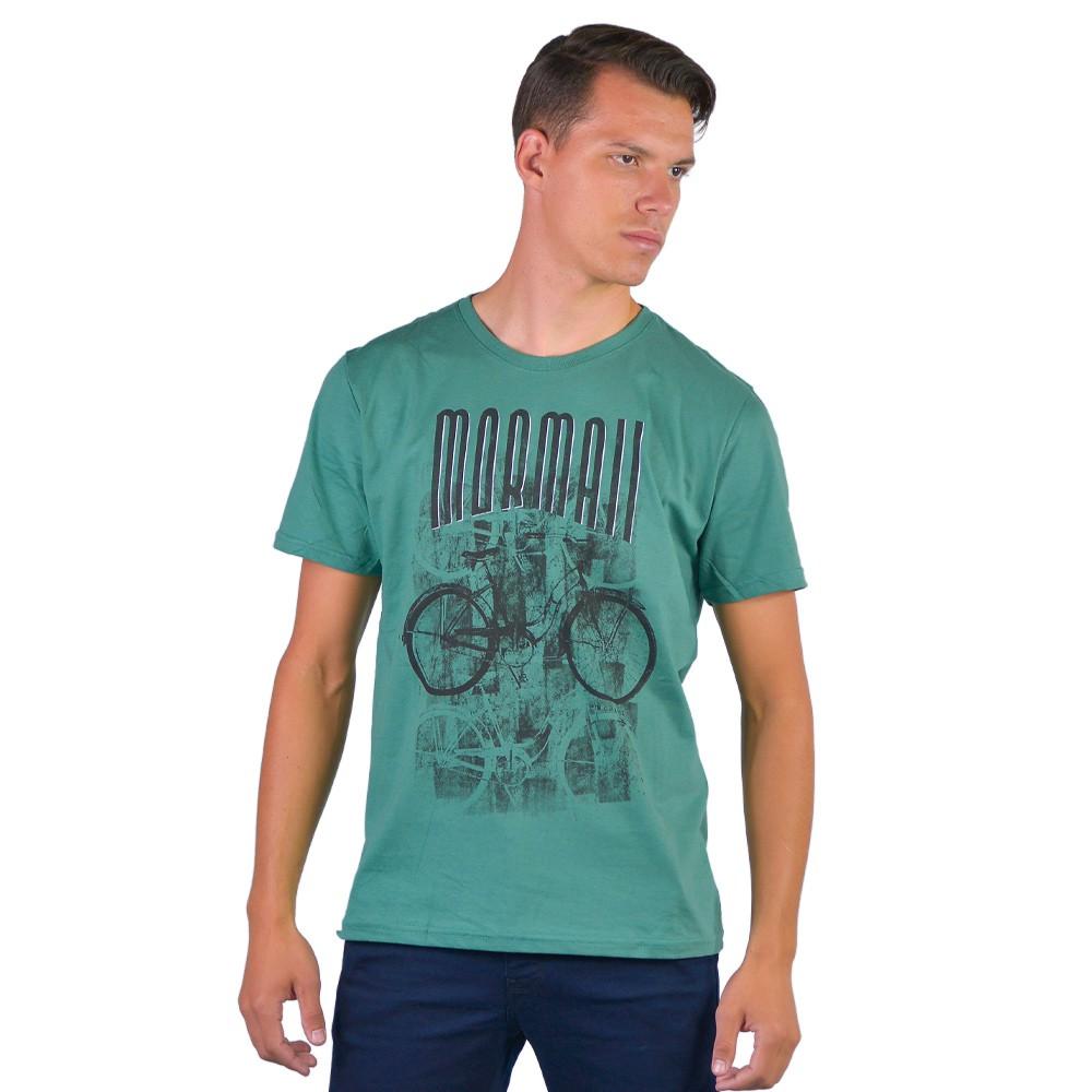 Camiseta Masculina Gola Careca Estampada Mormaii