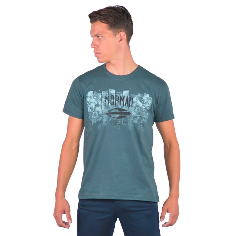 Camiseta Masculina Gola Redonda Casual Lisa Estampa Impressa