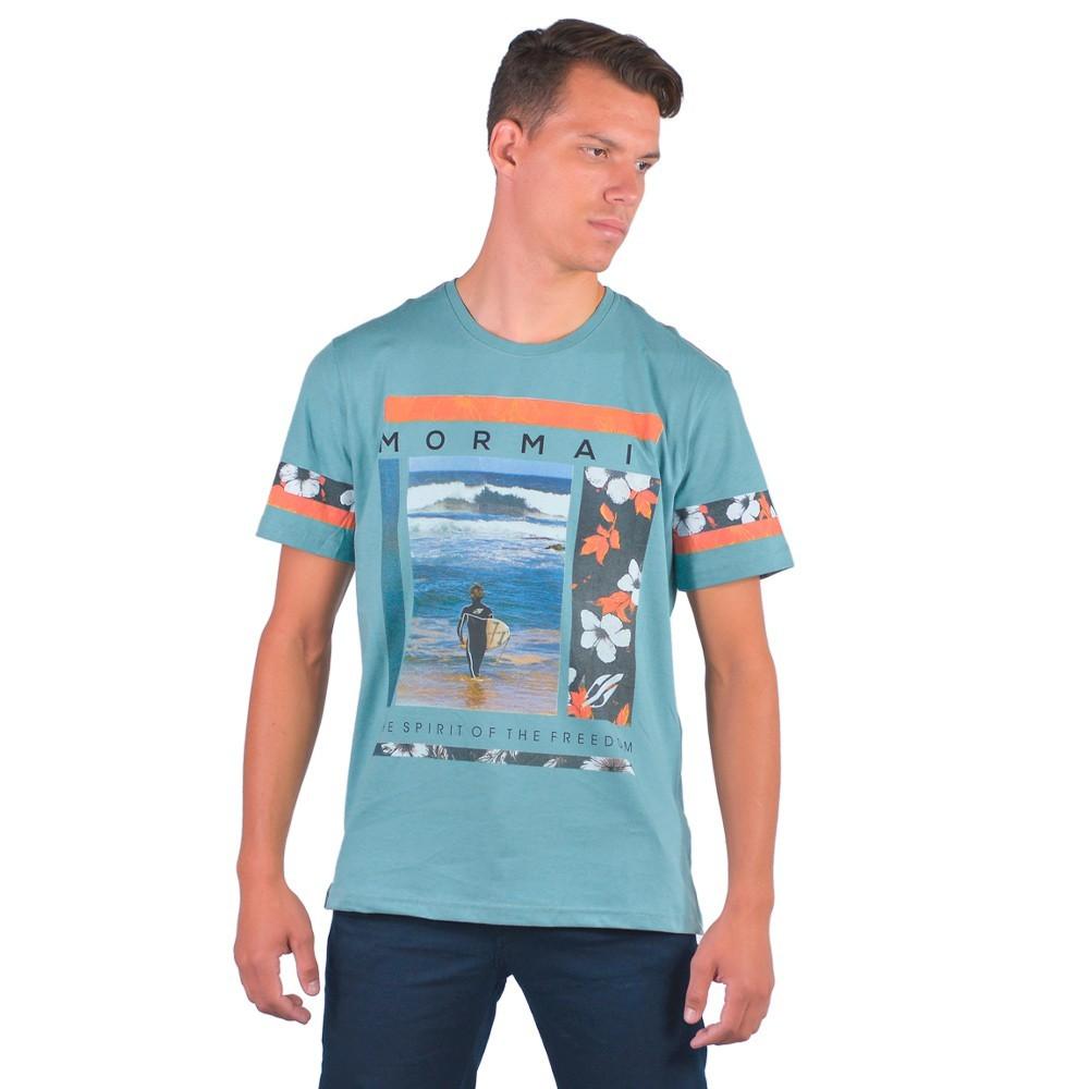 Camiseta Masculina Gola Redonda Verão 2020 Praia Surf