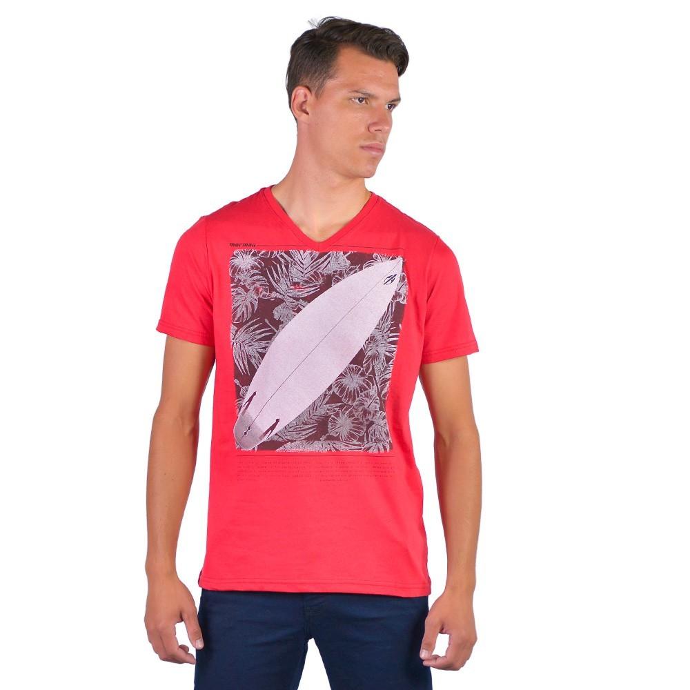 Camiseta Masculina Gola V Mormaii Praia Surf Basica Conforto