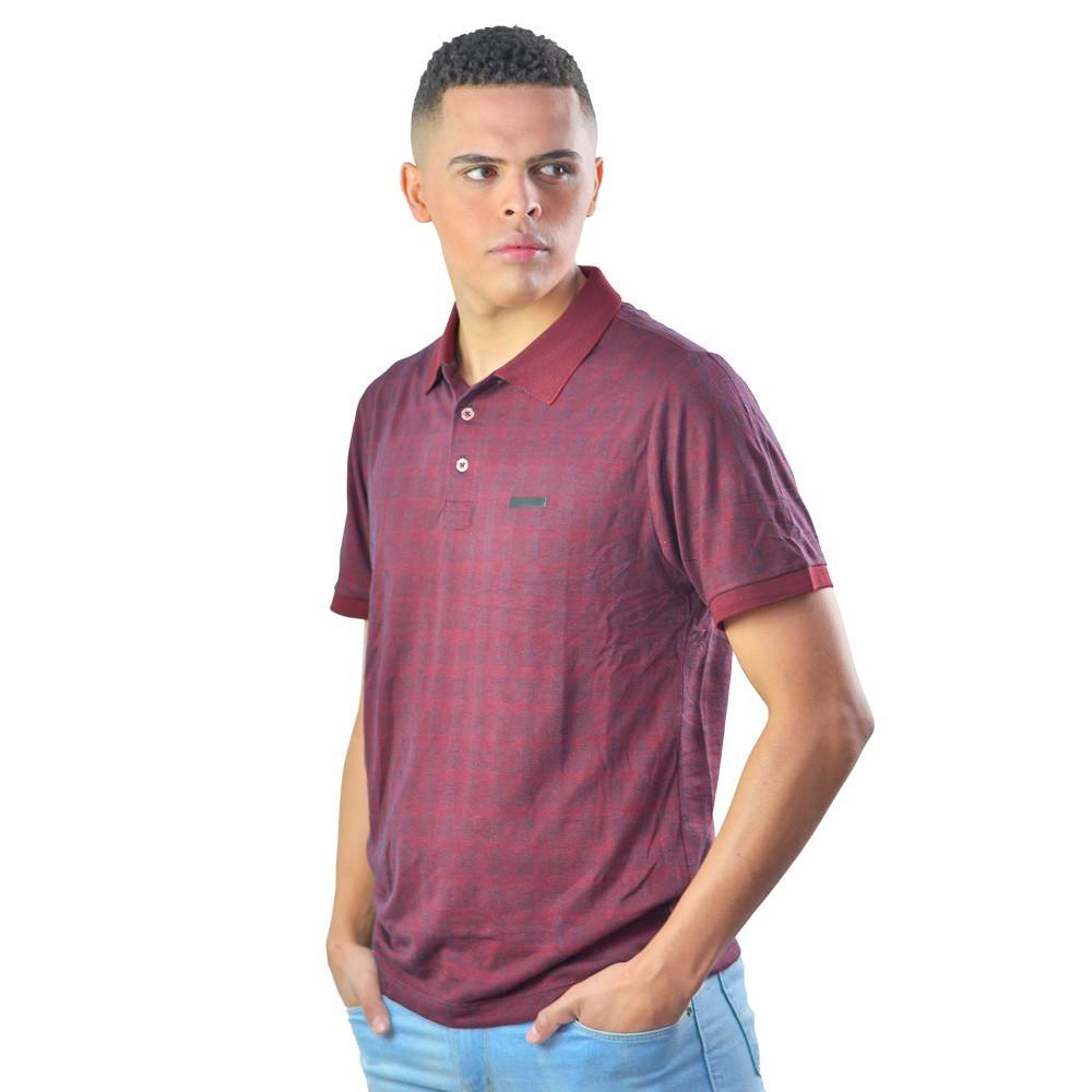 Camiseta Masculina Polo Xadrez Tecido Super Fresco Fino