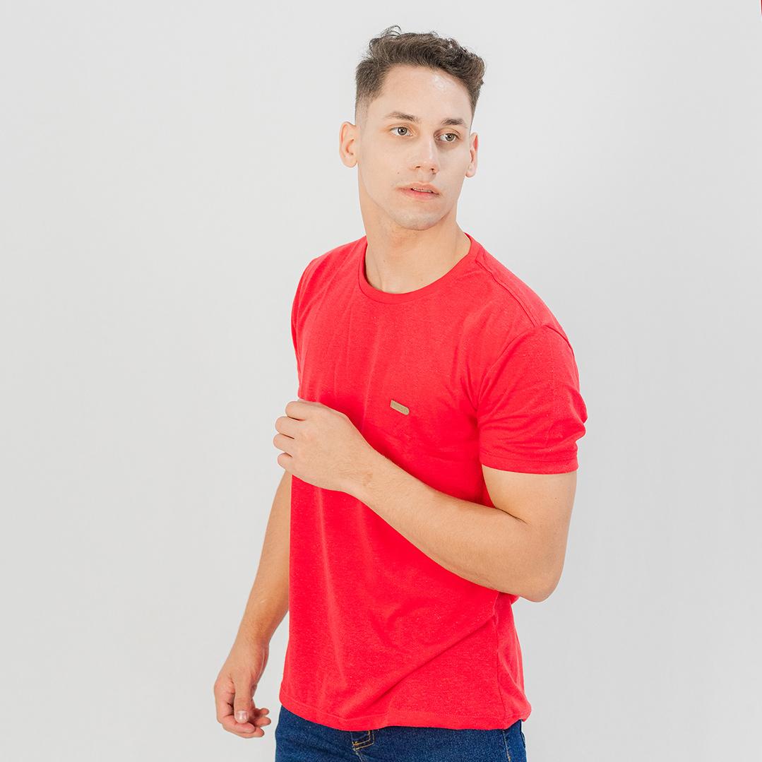 Camiseta Ogochi Gola Careca MC Casual Slim Coral