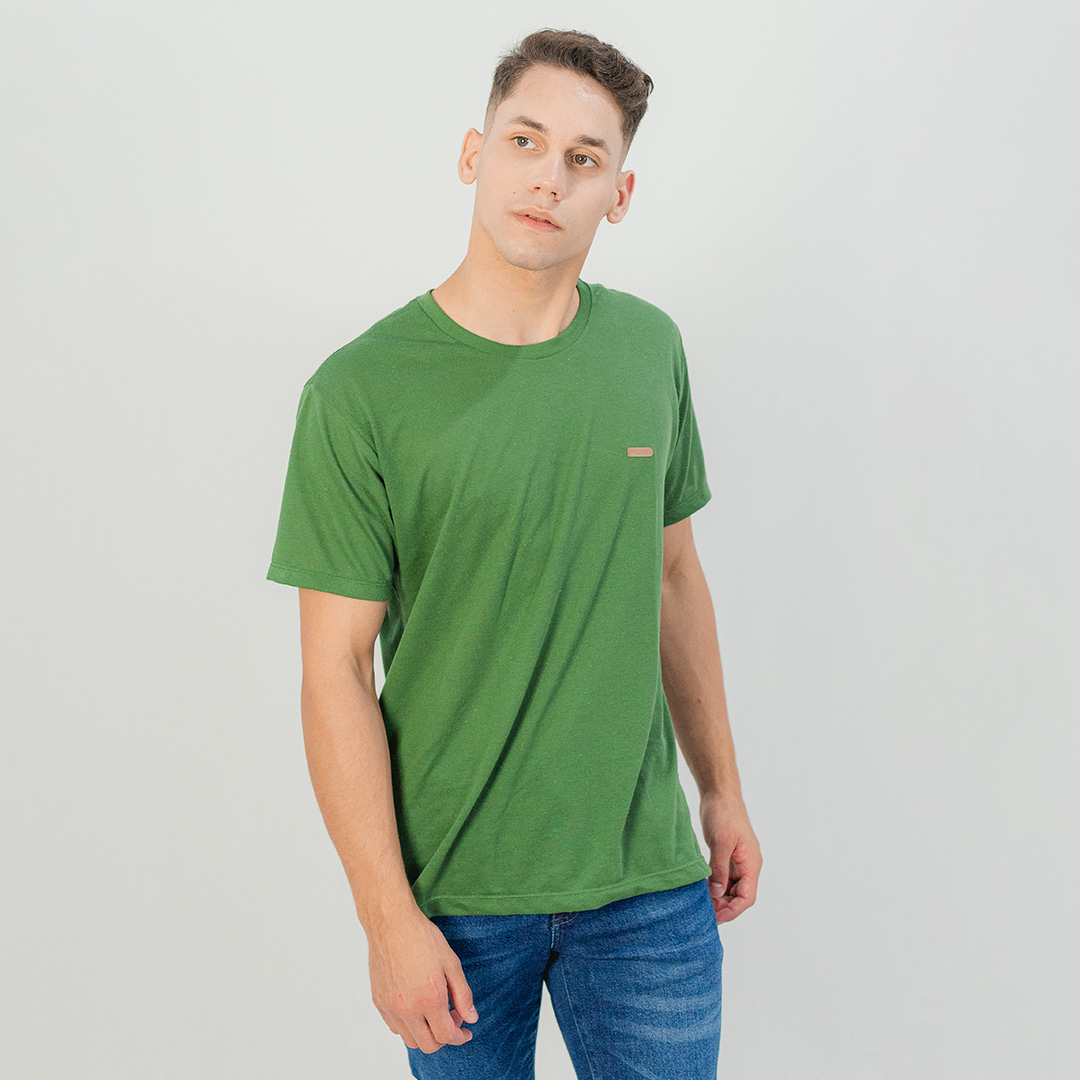Camiseta Ogochi Gola Careca MC Casual Slim Verde