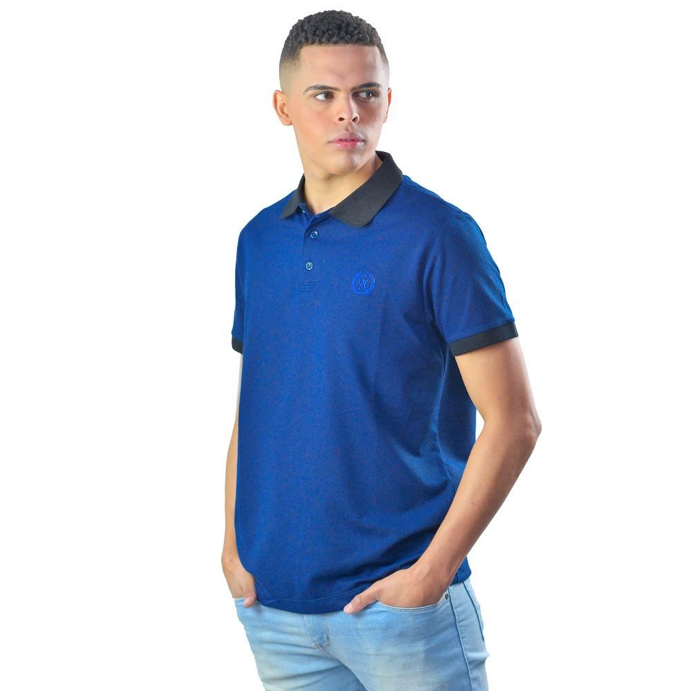 Camiseta Polo Masculina Manga Curta Listrada Logo Bordado
