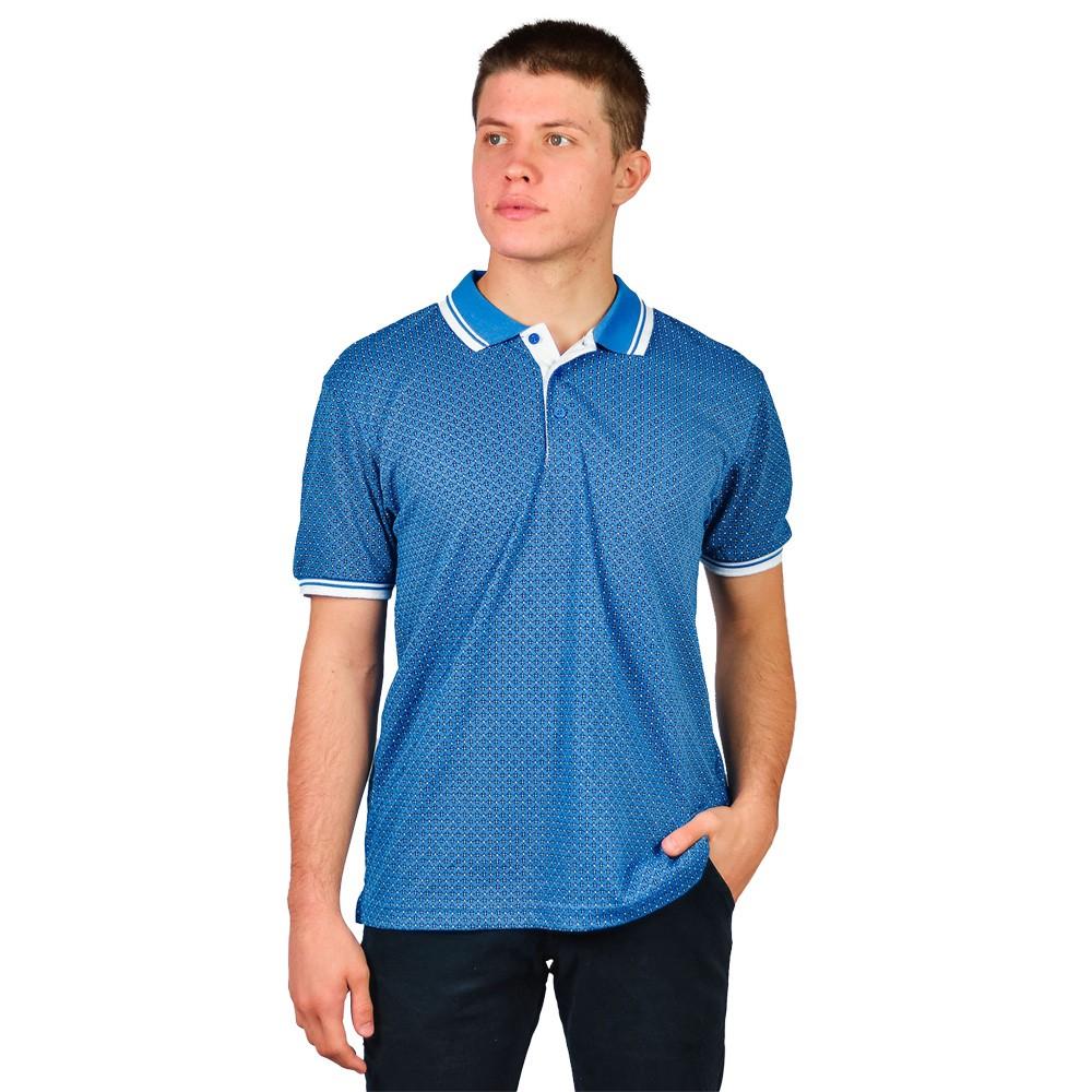 Camiseta Slim Gola Polo Masculino Broken Rulles Azul Claro