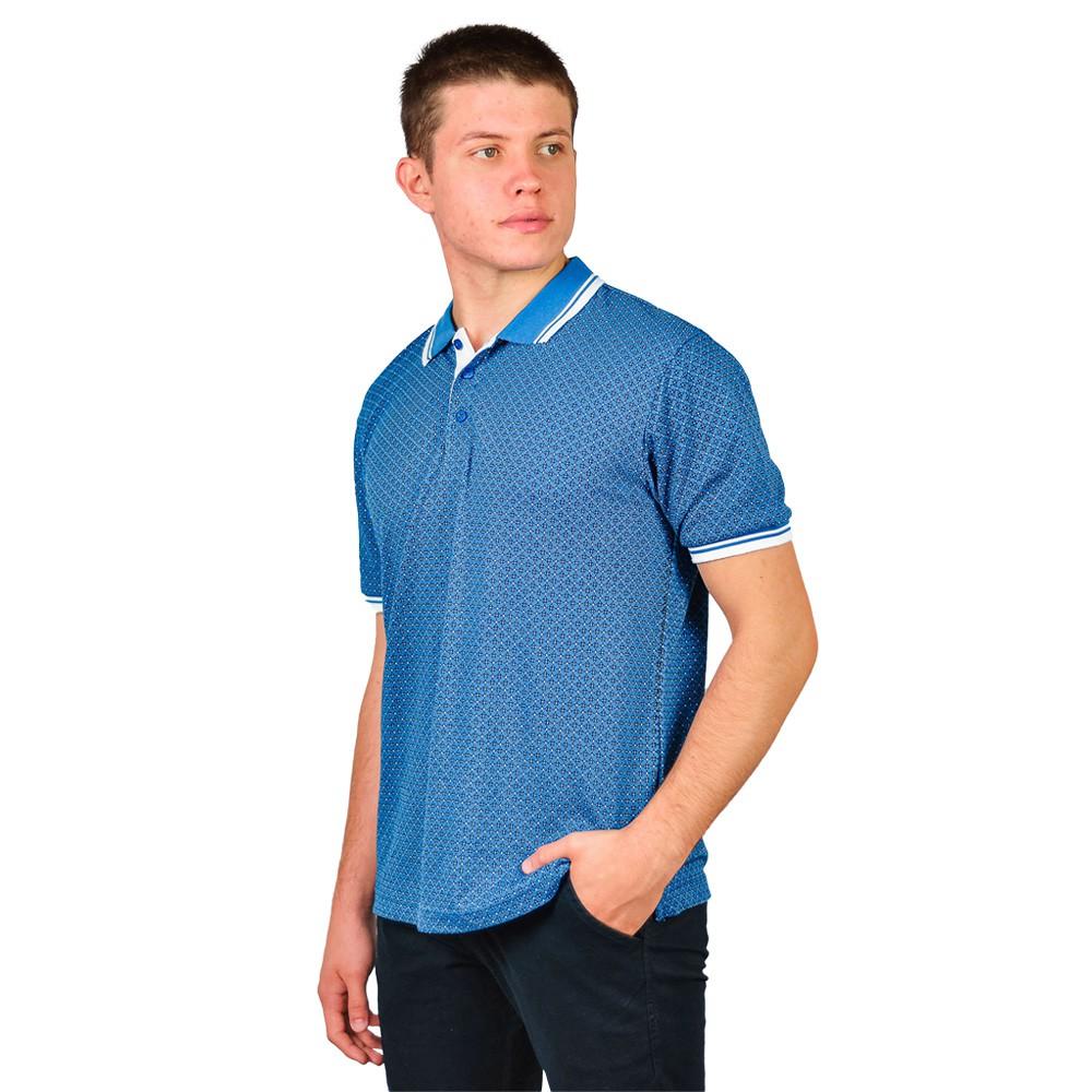 Camiseta Slim Gola Polo Manga Curta Masculino Broken Rulles Azul Claro Detalhes 120172