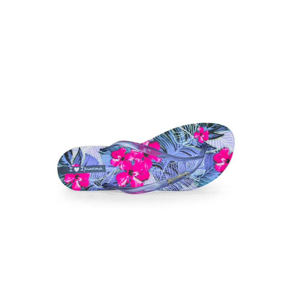 Chinelo Feminino Ipanema Wave Tropical Lilas Azul