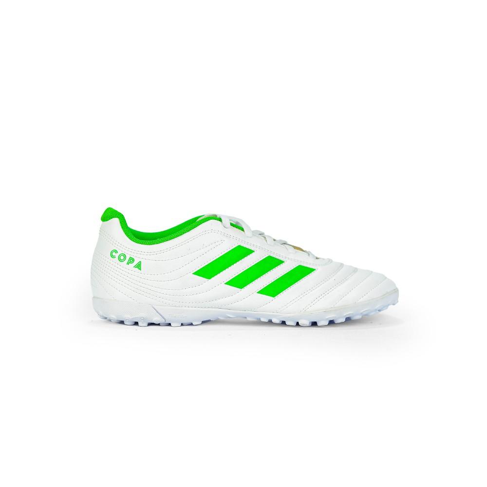 Chuteira Society Masculino Adidas Copa 19.4 TF Branco/Verde