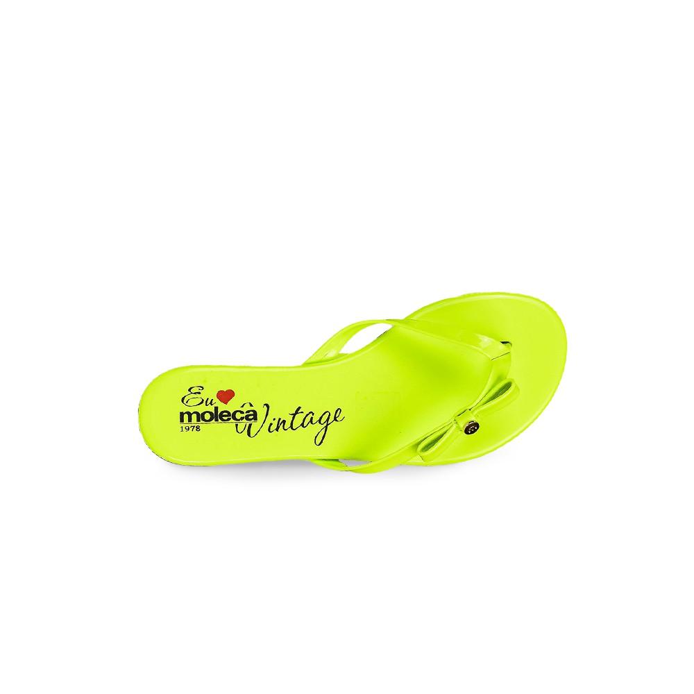Rasteira Moleca Verde Neon Verniz com Lanço 5426107