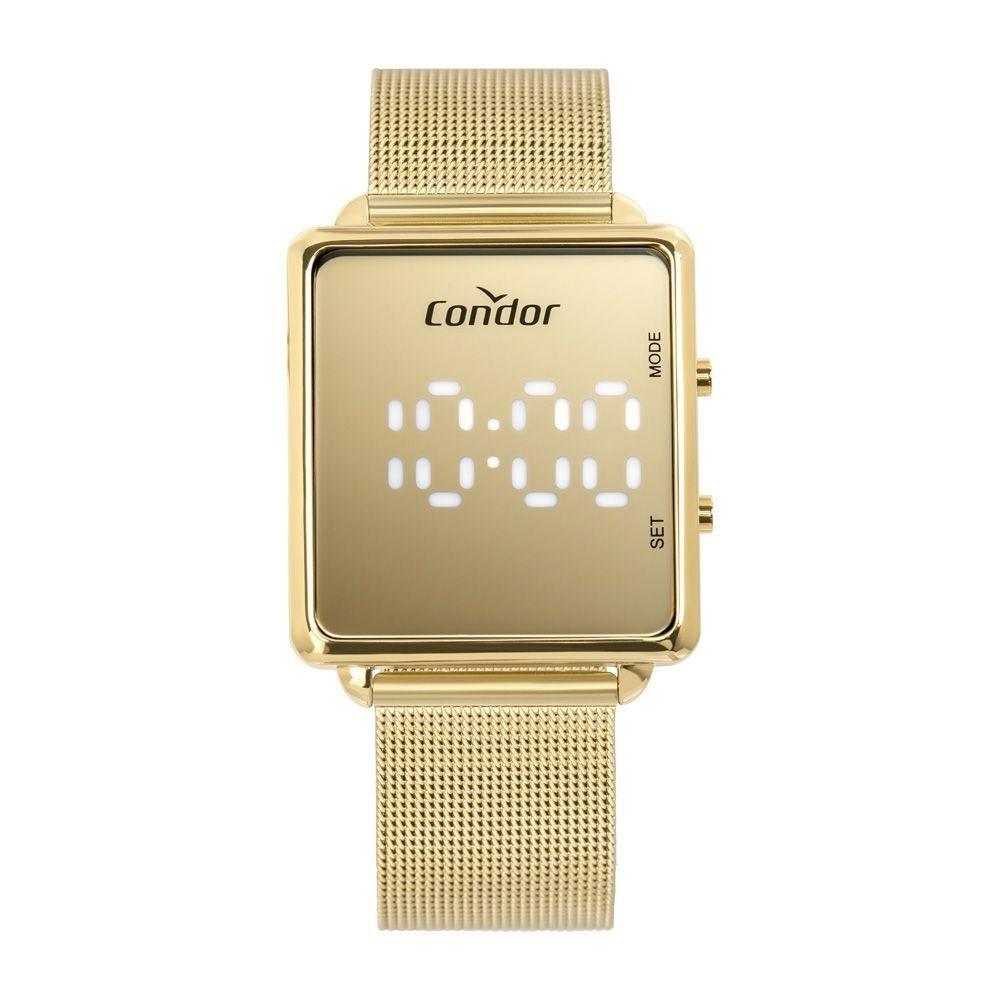 Relógio Condor Feminino Digital LED Dourado COMD1202AF/4D
