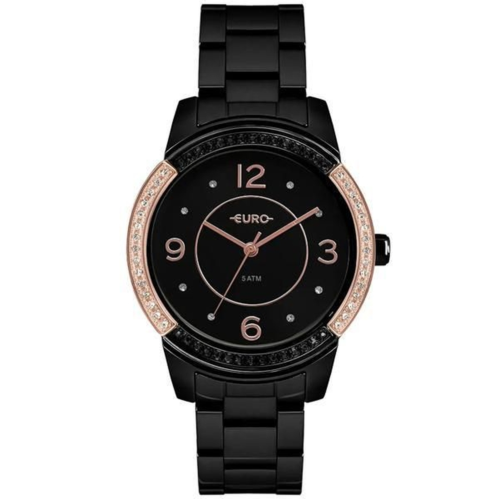 Relógio Euro Feminino Preto Eu2036Ymq/4P