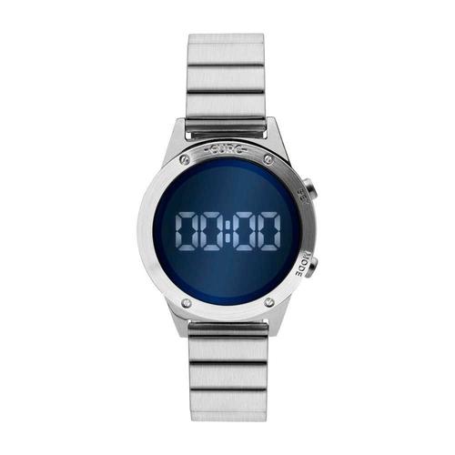Relógio Prateado Feminino Euro Fashion Fit Reflexos Eujhs31baa/K3a