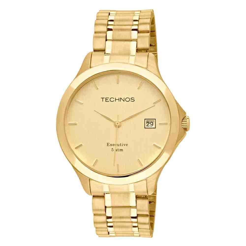 relógio technos feminino analógico - 2035mfts/4x dourado - único