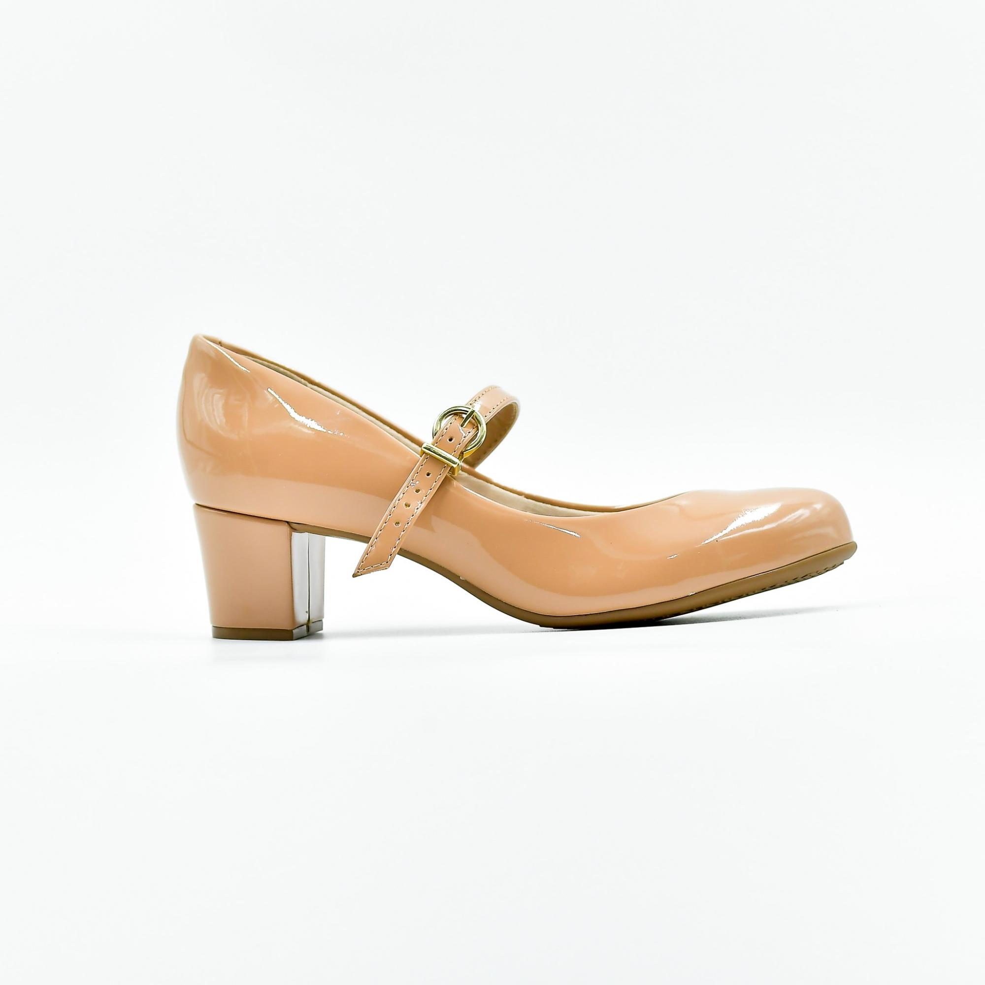 Sapato Beira Rio Boneca Verniz Premium Rose