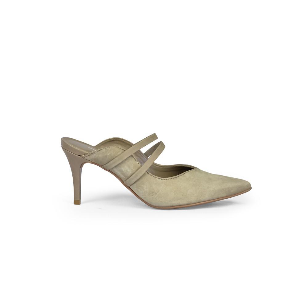 Sapato Couro Bottero Feminino Nobuck Cinza 299805