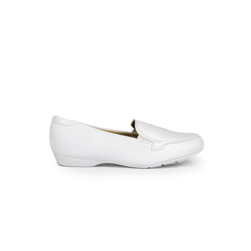 Sapato Modare Salto Baixo Ultra Conforto Napa Branco Medico
