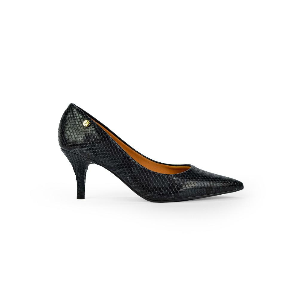 Sapato Scarpin Feminino Fashion Napa Cobre Luxo Multi Preto