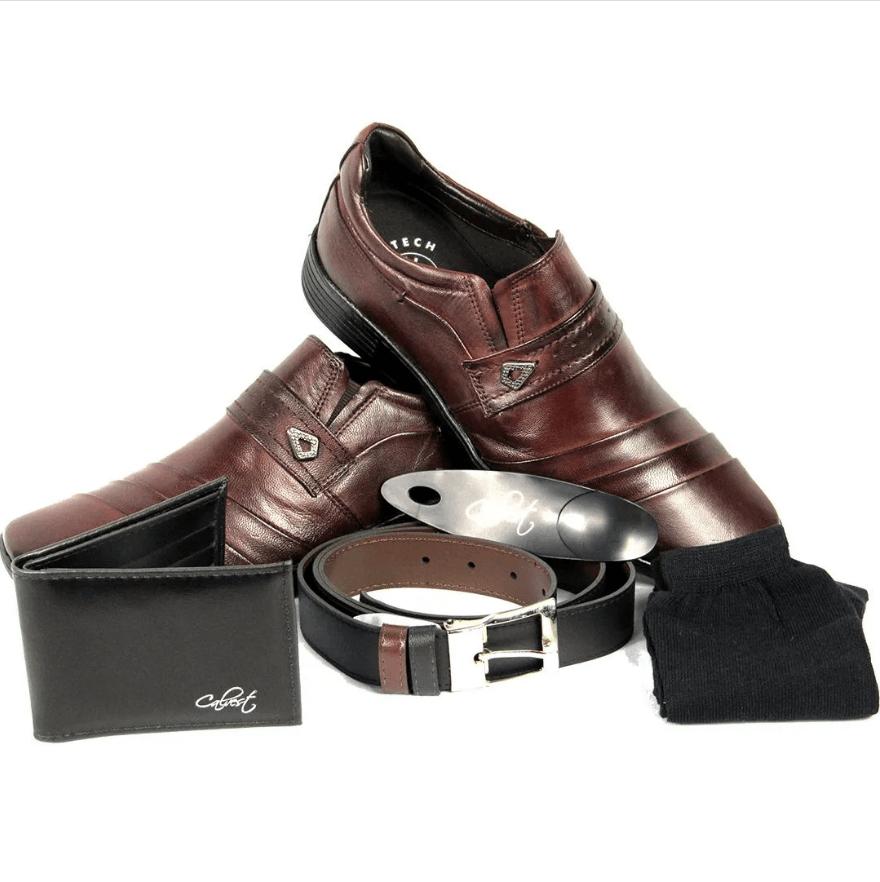 Sapato Social Calvest Kit 5 em 1 Dia e Noite